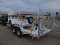 Bumper Pull Heavy Equipment Skid Loader Trailer - SKL 51