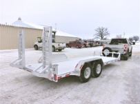 Bumper Pull Heavy Equipment Skid Loader Trailer - SKL 71