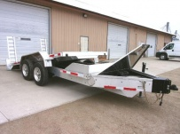 Bumper Pull Heavy Equipment Skid Loader Trailer - SKL 72B