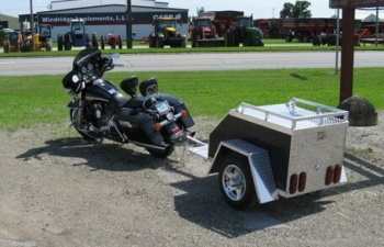 Alum Lineu0027s Enclosed Motorcycle Trailer Pull Behind Tote Is Designed To  Easily Pull Behind Your Motorcycle As An Aluminum Storage Box.